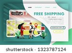 free shipping flat vector...