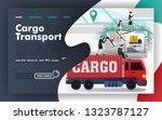 cargo transport logistics flat...
