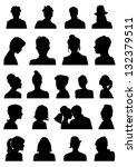 heads silhouettes | Shutterstock .eps vector #132379511