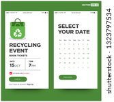 recycling event app interface...