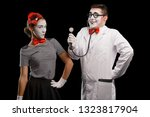 Patient And Doctor Pantomime....