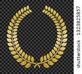 golden laurel wreath on... | Shutterstock .eps vector #1323825857