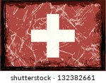 grunge switzerland flag. | Shutterstock .eps vector #132382661