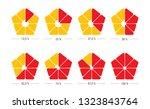 pentagonal percent. pentagonal... | Shutterstock .eps vector #1323843764
