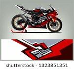 motorcycle wrap design. ready... | Shutterstock .eps vector #1323851351