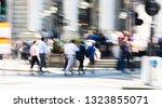 motion blur of walking people....   Shutterstock . vector #1323855071