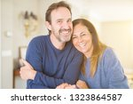 romantic middle age couple in... | Shutterstock . vector #1323864587