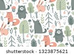 vector seamless pattern with... | Shutterstock .eps vector #1323875621