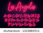 Glowing Neon Script Alphabet....