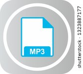 vector mp3 icon  | Shutterstock .eps vector #1323887177