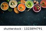 assortment of colored vegetable ...   Shutterstock . vector #1323894791