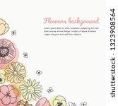 vector hand drawn flowers ...   Shutterstock .eps vector #1323908564