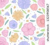 vector hand drawn flowers ...   Shutterstock .eps vector #1323908567