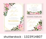 wedding floral golden... | Shutterstock .eps vector #1323914807