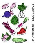 cauliflower  sweet potatoes ... | Shutterstock .eps vector #1323920921
