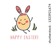 happy egg in style kawaii  with ...   Shutterstock .eps vector #1323921674