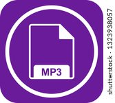 vector mp3 icon  | Shutterstock .eps vector #1323938057