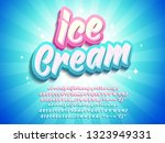 ice cream typographic style ... | Shutterstock .eps vector #1323949331