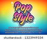 colorful pop style text effect  ...   Shutterstock .eps vector #1323949334