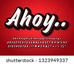 brush script bold  font effect... | Shutterstock .eps vector #1323949337