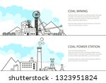 set of horizontal banners with... | Shutterstock .eps vector #1323951824