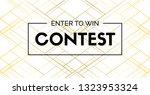 contest vector elegant banner... | Shutterstock .eps vector #1323953324
