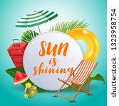 sun is shining. inspirational... | Shutterstock .eps vector #1323958754