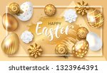 easter card design with paper... | Shutterstock .eps vector #1323964391
