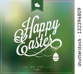 happy easter typographical... | Shutterstock .eps vector #132396809
