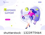 customer support concept. can... | Shutterstock .eps vector #1323975464