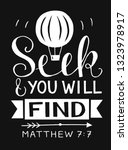 hand lettering seek and you... | Shutterstock .eps vector #1323978917