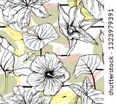 tropical  stripe  animal motif. ... | Shutterstock .eps vector #1323979391