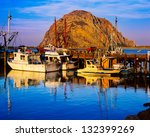 Morro Bay Harbor And Morro Roc...