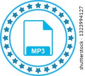 vector mp3 icon  | Shutterstock .eps vector #1323994127