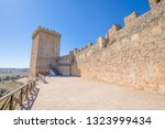 rampart and turret in castle of ... | Shutterstock . vector #1323999434