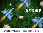 illustration of air strike with ...   Shutterstock .eps vector #1324010177