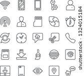 thin line icon set   mobile... | Shutterstock .eps vector #1324015184