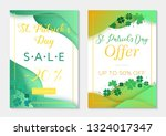 set of two sale vouchers to st... | Shutterstock .eps vector #1324017347