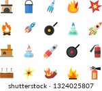 color flat icon set hiking pot... | Shutterstock .eps vector #1324025807
