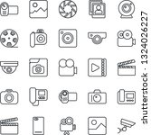 thin line icon set   camera... | Shutterstock .eps vector #1324026227