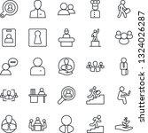 thin line icon set   female... | Shutterstock .eps vector #1324026287