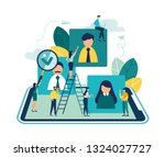vector business graph  open... | Shutterstock .eps vector #1324027727