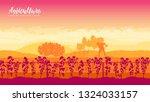 raised beds for vegetable... | Shutterstock .eps vector #1324033157