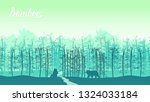 bamboo forest in the morning.... | Shutterstock .eps vector #1324033184