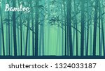 bamboo forest in the morning.... | Shutterstock .eps vector #1324033187