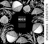 rice hand drawn vector... | Shutterstock .eps vector #1324037174