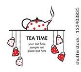 tea time icon | Shutterstock .eps vector #132403835