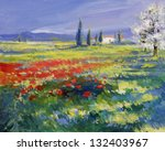 Red Poppies On A Summer Meadow  ...