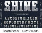 font typeface vector alphabet...   Shutterstock .eps vector #1324048484