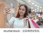 happy healthy young woman... | Shutterstock . vector #1324052531